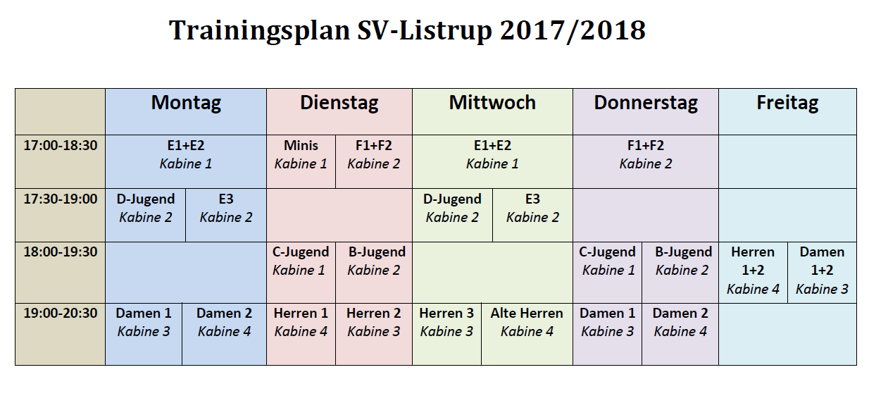 Trainingsplan SVL 2018 Bild